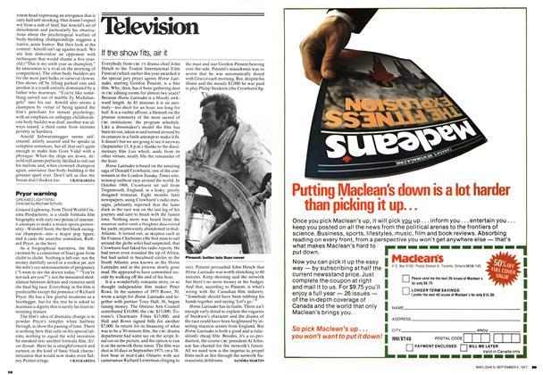 Article Preview: Pryor warning, September 1977 | Maclean's