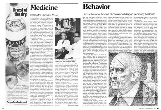 Article Preview: One for the end of the road: alcoholism and drug abuse among the elderly, September 1977 | Maclean's