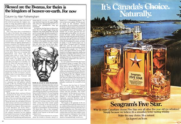 Article Preview: Blessed are the Bwanas, for theirs is the kingdom of heaven-on-earth. For now, September 1977 | Maclean's