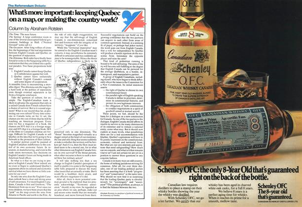 Article Preview: What's more important: keeping Quebec on a map, or making the country work?, September 1977 | Maclean's