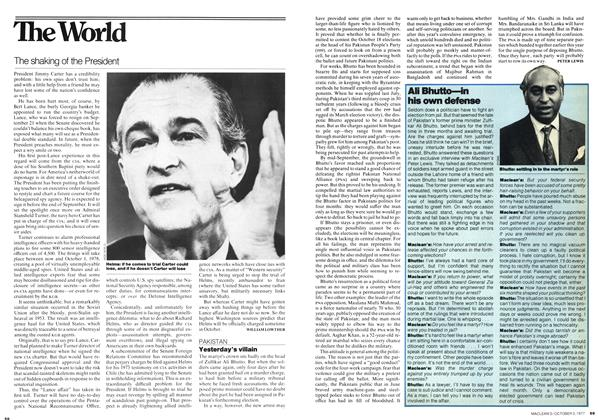 Article Preview: The shaking of the President, October 1977 | Maclean's