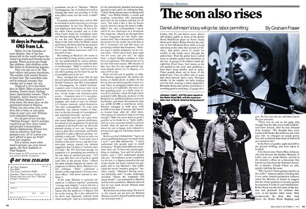 Article Preview: The son also rises, OCT0BER17 1977 1977 | Maclean's