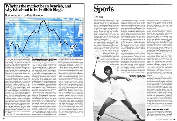 Article Preview: Why has the market been bearish, and why is it about to be bullish? Magic, OCT0BER17 1977 1977 | Maclean's