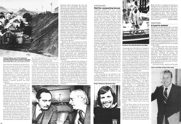 Article Preview: Hail the conquering heroes, OCTOBER 31,1977 1977 | Maclean's