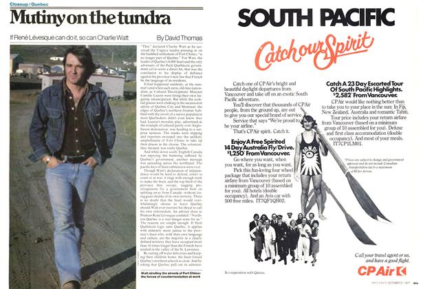 Article Preview: Mutiny on the tundra, OCTOBER 31,1977 1977 | Maclean's