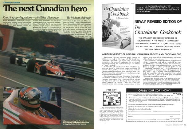 Article Preview: The next Canadian hero, OCTOBER 31,1977 1977 | Maclean's