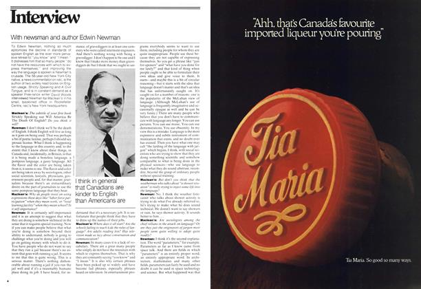 Article Preview: With newsman and author Edwin Newman, OCTOBER 31,1977 1977 | Maclean's