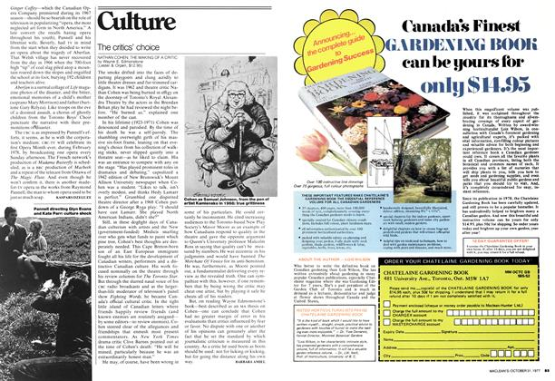 Article Preview: The critics' choice, OCTOBER 31,1977 1977 | Maclean's