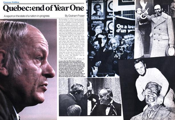 Article Preview: Quebec: end of Year One, November 1977 | Maclean's