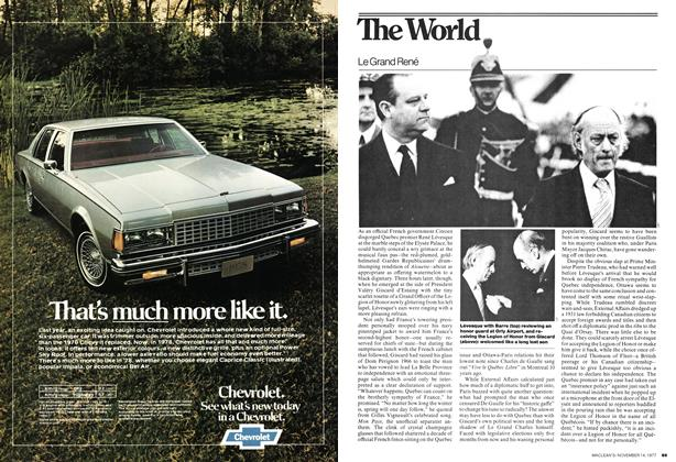Article Preview: The World, November 1977 | Maclean's