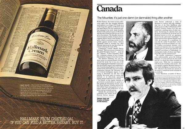 Article Preview: The Mounties: it's just one damn (or damnable) thing after another, November 1977 | Maclean's