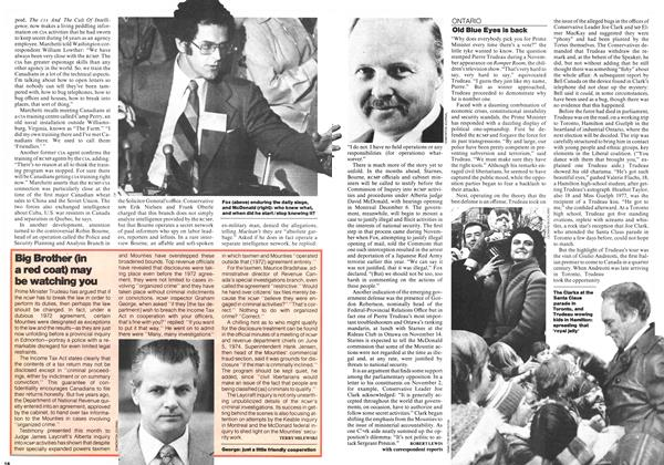 Article Preview: Old Blue Eyes is back, November 1977 | Maclean's