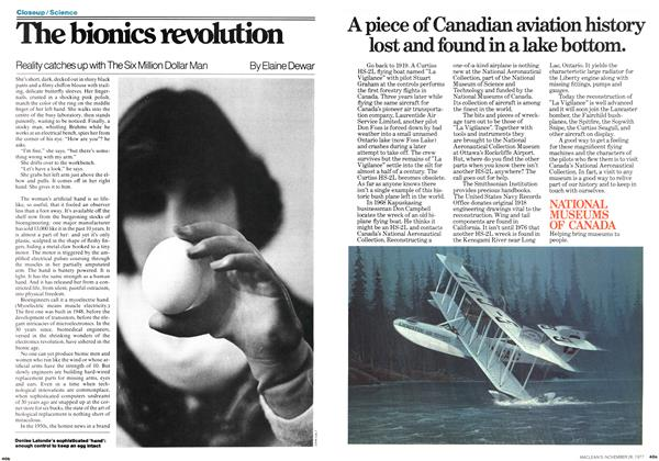 Article Preview: The bionics revolution, November 1977 | Maclean's