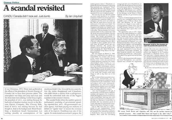 Article Preview: A scandal revisited, November 1977 | Maclean's