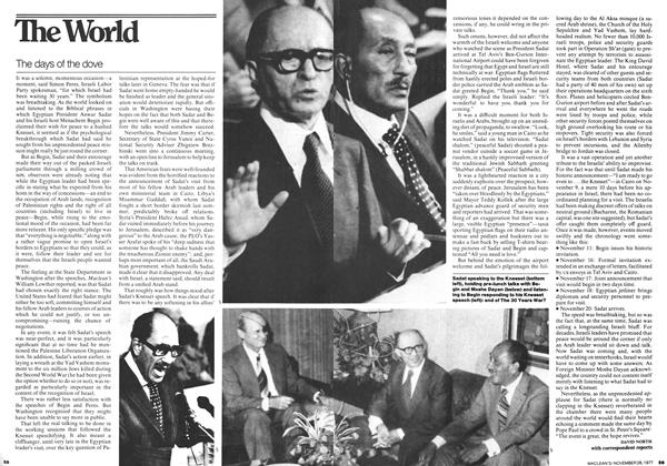 Article Preview: The days of the dove, November 1977 | Maclean's