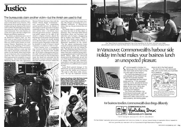 Article Preview: The bureaucrats claim another victim—but the Amish are used to that, November 1977 | Maclean's