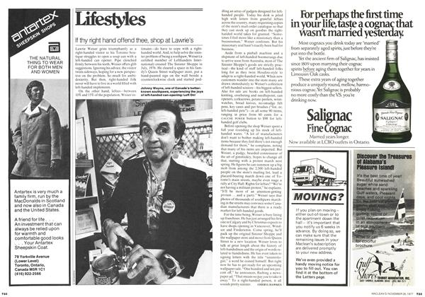 Article Preview: If thy right hand offend thee, shop at Lawrie's, November 1977 | Maclean's