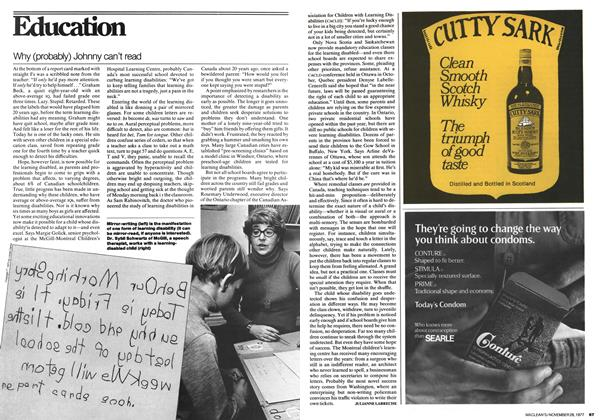 Article Preview: Why (probably) Johnny can't read, November 1977 | Maclean's