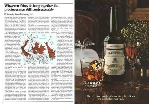 Article Preview: Why, even if they do hang together, the provinces may still hang separately, November 1977 | Maclean's