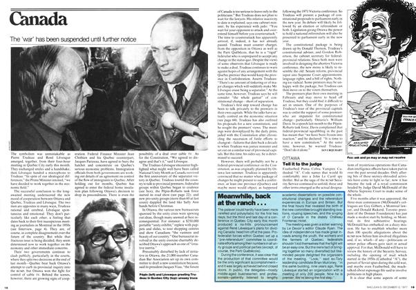 Article Preview: The 'war' has been suspended until further notice, December 1977 | Maclean's