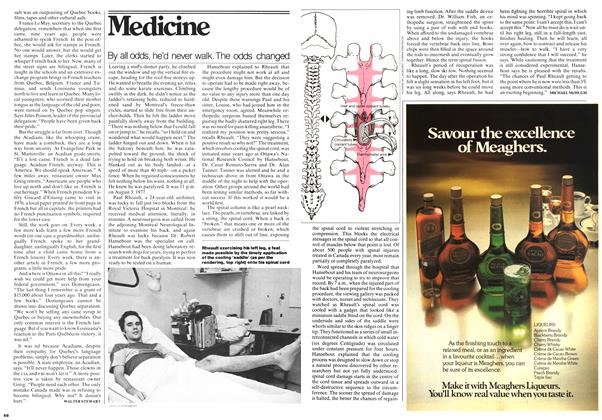 Article Preview: By all odds, he'd never walk. The odds changed, December 1977 | Maclean's