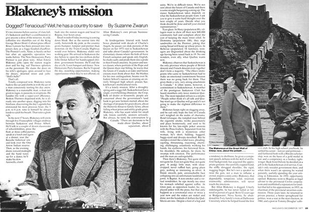 Article Preview: Blakeney's mission, December 1977 | Maclean's
