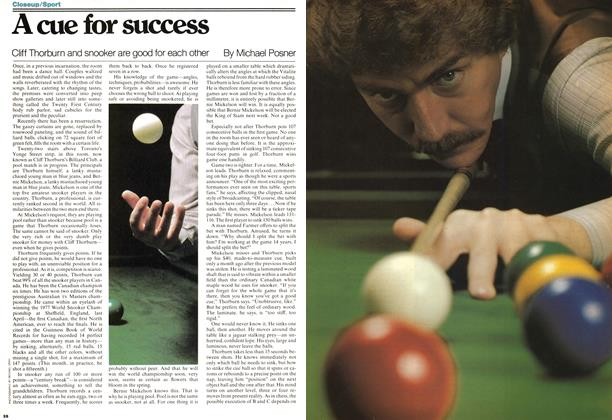 Article Preview: A cue for success, December 1977 | Maclean's