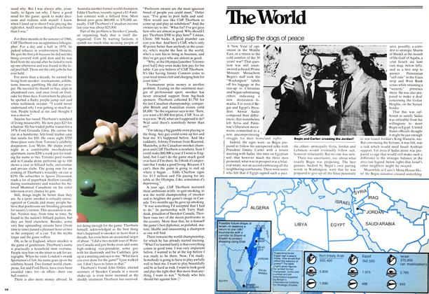 Article Preview: Letting slip the dogs of peace, December 1977 | Maclean's