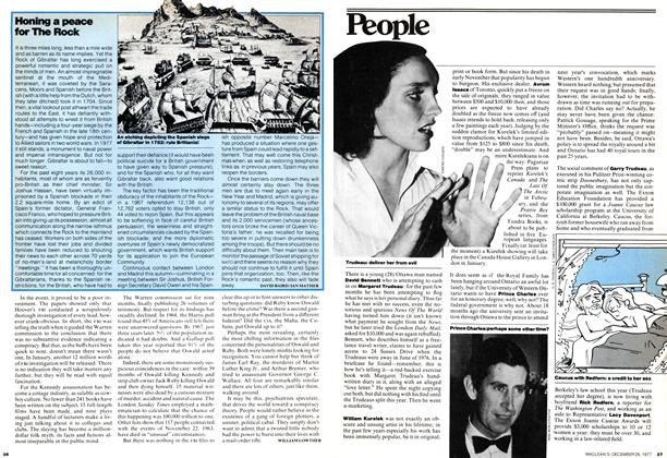Article Preview: Honing a peace for The Rock, December 1977 | Maclean's