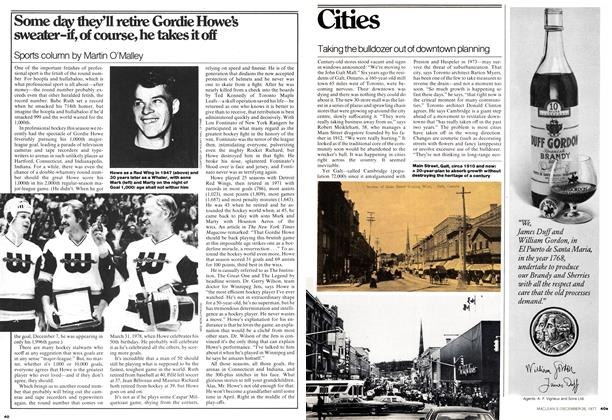 Article Preview: Taking the bulldozer out of downtown planning, December 1977 | Maclean's