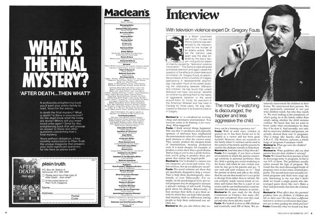 Article Preview: Interview, December 1977 | Maclean's
