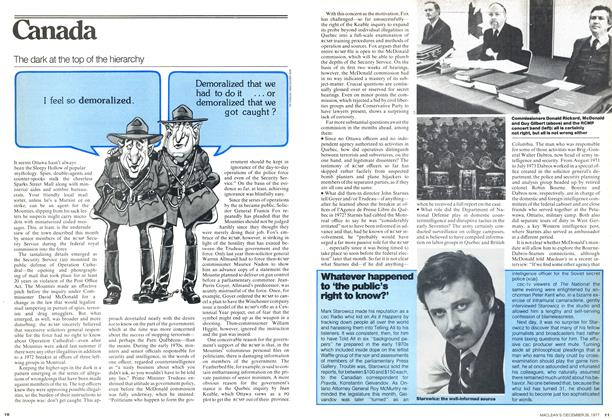 Article Preview: The dark at the top of the hierarchy, December 1977 | Maclean's