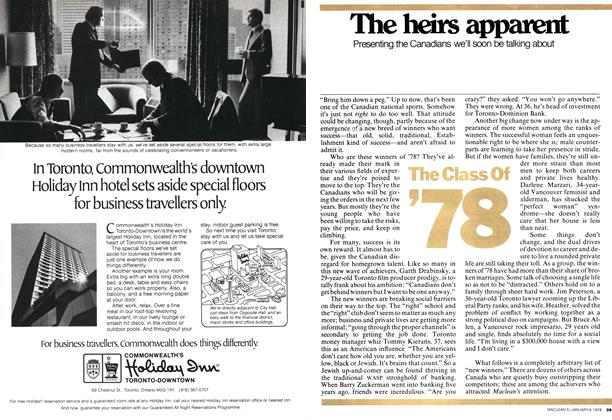 Article Preview: The heirs apparent, January 1978 | Maclean's