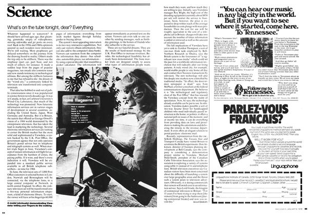 Article Preview: What's on the tube tonight, dear? Everything, January 1978 | Maclean's