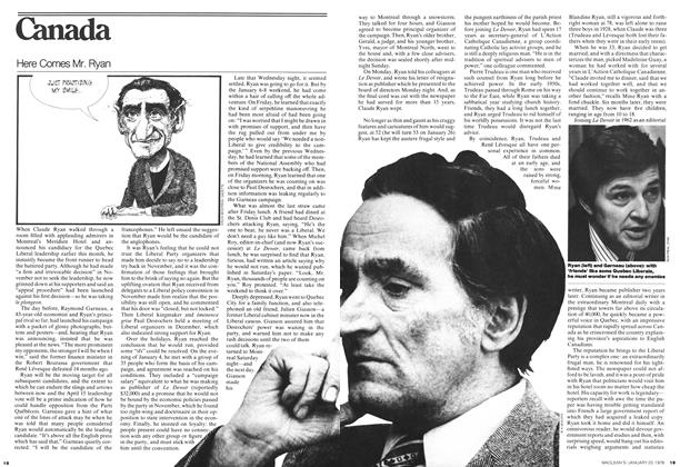 Article Preview: Here Comes Mr. Ryan, JANUARY 23,1978 1978 | Maclean's