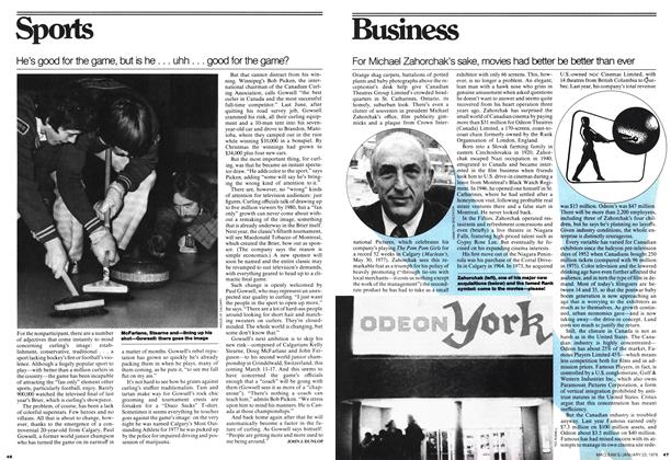 Article Preview: For Michael Zahorchak's sake, movies had better be better than ever, JANUARY 23,1978 1978 | Maclean's