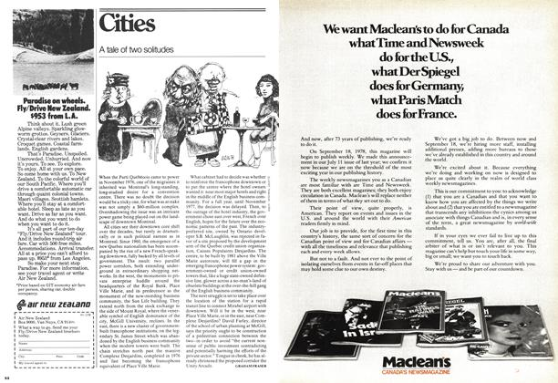 Article Preview: A tale of two solitudes, JANUARY 23,1978 1978 | Maclean's