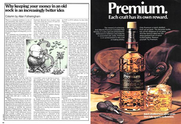 Article Preview: Why keeping your money in an old sock is an increasingly better idea, JANUARY 23,1978 1978   Maclean's