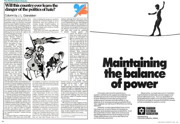 Article Preview: Will this country ever learn the danger of the politics of hate?, JANUARY 23,1978 1978 | Maclean's