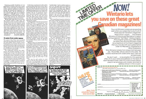 Article Preview: It came from outer space, February 1978 | Maclean's
