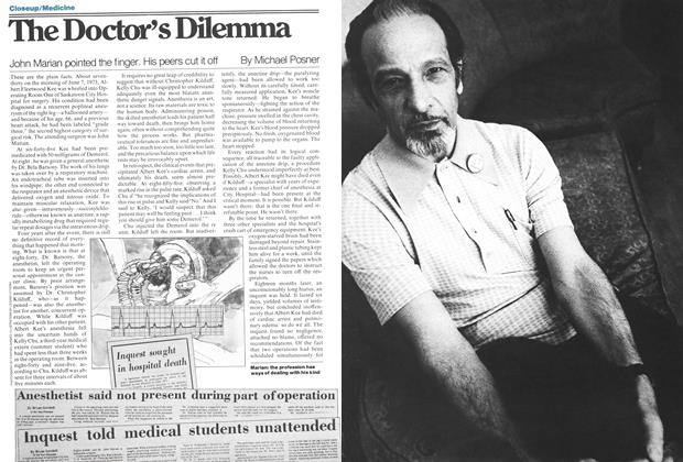 Article Preview: The Doctor's Dilemma, February 1978 | Maclean's