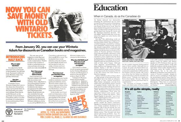 Article Preview: Education, February 1978 | Maclean's