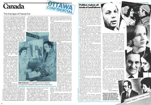 Article Preview: Politics makes all kinds of bedfellows, FEBRUARY 20,1978 1978 | Maclean's