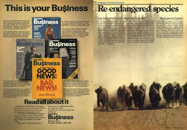 Article Preview: Re-endangered species, FEBRUARY 20,1978 1978 | Maclean's