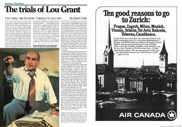 Article Preview: The trials of Lou Grant, FEBRUARY 20,1978 1978 | Maclean's