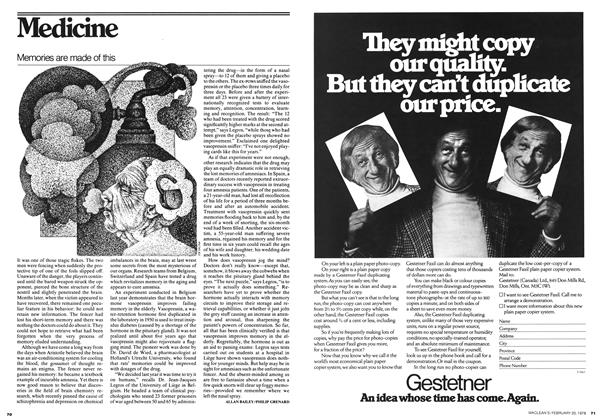 Article Preview: Memories are made of this, FEBRUARY 20,1978 1978 | Maclean's