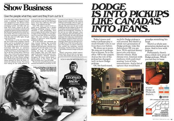 Article Preview: Show Business, FEBRUARY 20,1978 1978 | Maclean's