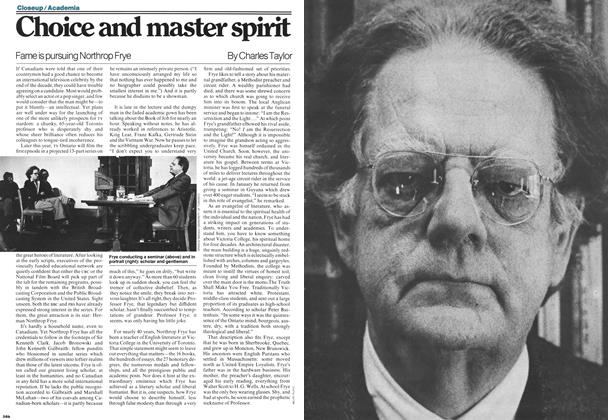 Article Preview: Choice and master spirit, MARCH 6,1978 1978 | Maclean's