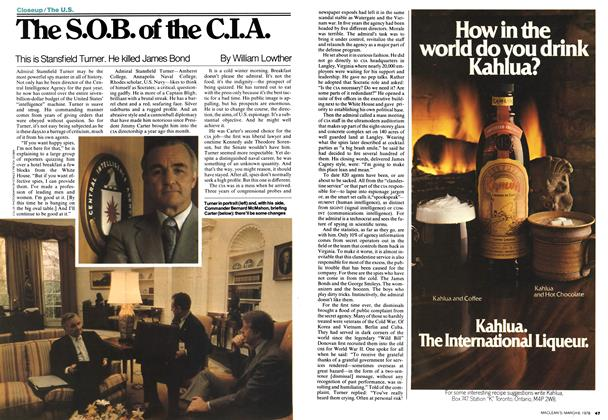 Article Preview: The S.O.B. of the C.I.A., MARCH 6,1978 1978 | Maclean's