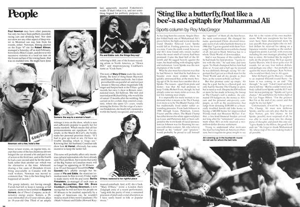 Article Preview: 'Sting like a butterfly, float like a bee'-a sad epitaph for Muhammad Ali, MARCH 6,1978 1978 | Maclean's